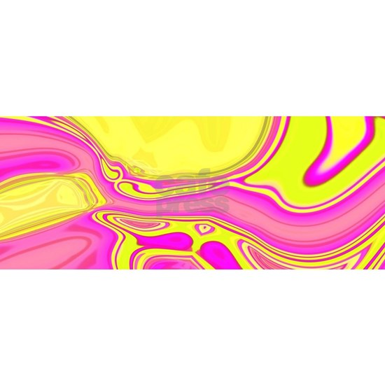 neon fuchsia yellow swirls