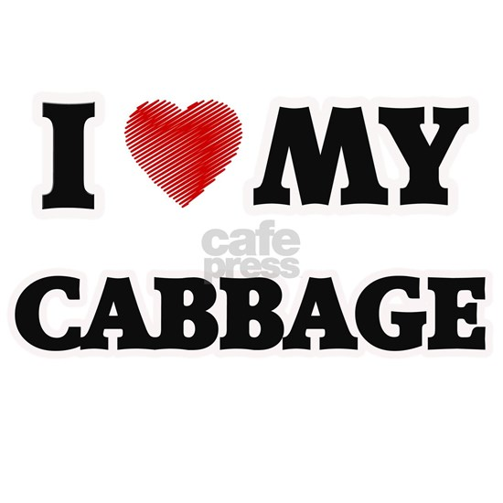 I Love My Cabbage food design