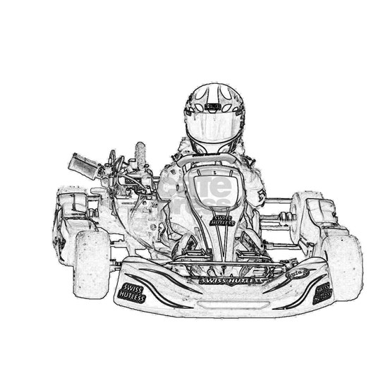 Kart Racer Pencil Sketch