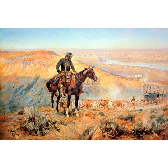 The Wagon Boss by Charles M Russell