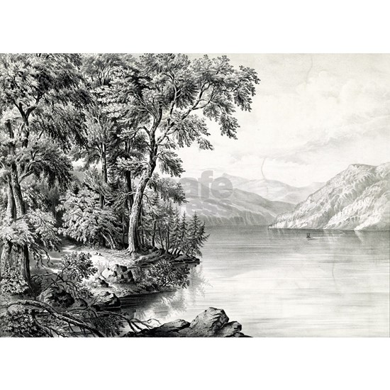 View on Lake George NY - 1866