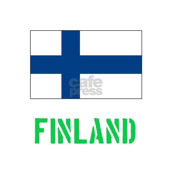 Finland Flag Stencil Green Design
