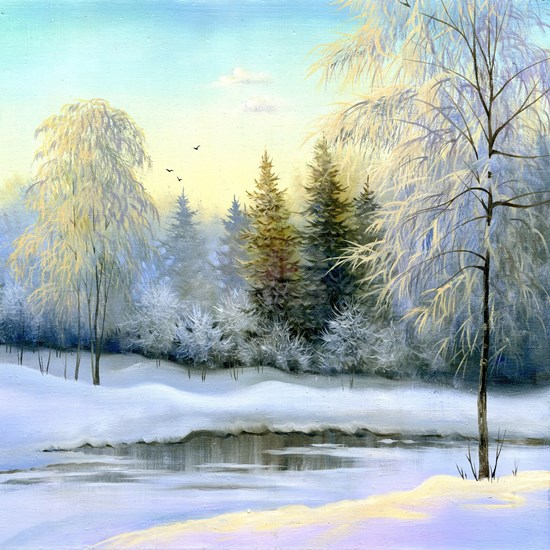 Beautiful Winter Painting