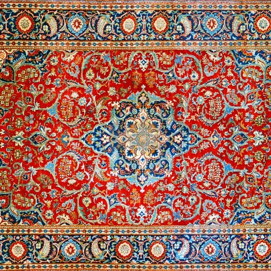 Red Blue Antique Persian Rug