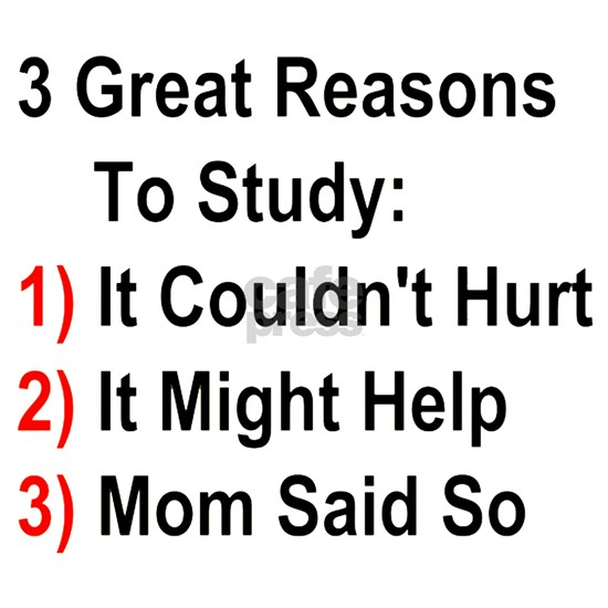 Three Great Reasons To Study - Mom Version