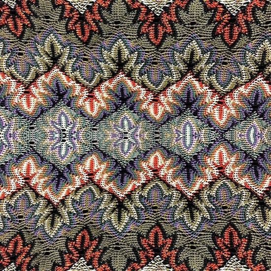 bohemian floral tribal pattern