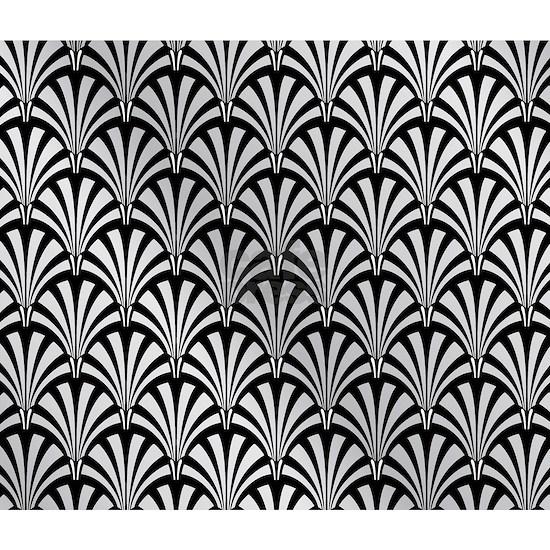 Elegant Black and Silver Art Deco