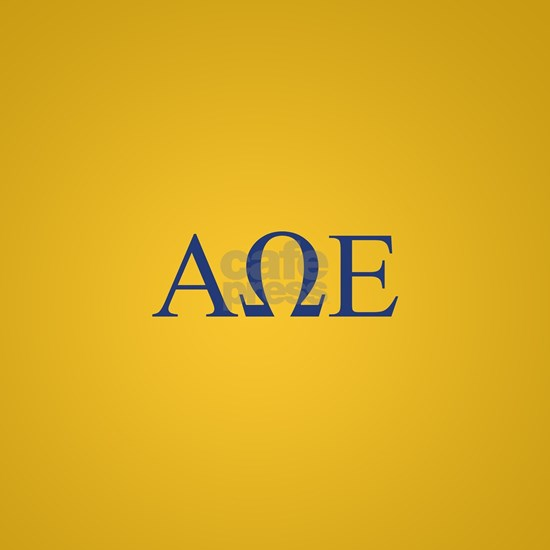 Alpha Omega Epsilon Letters Gold Full Bleed