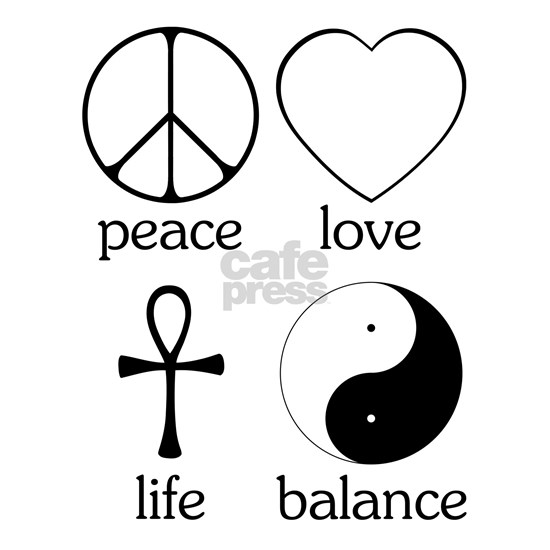 Peace Love Life Balance square II