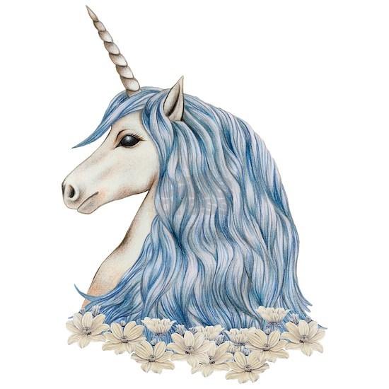 White Unicorn Drawing