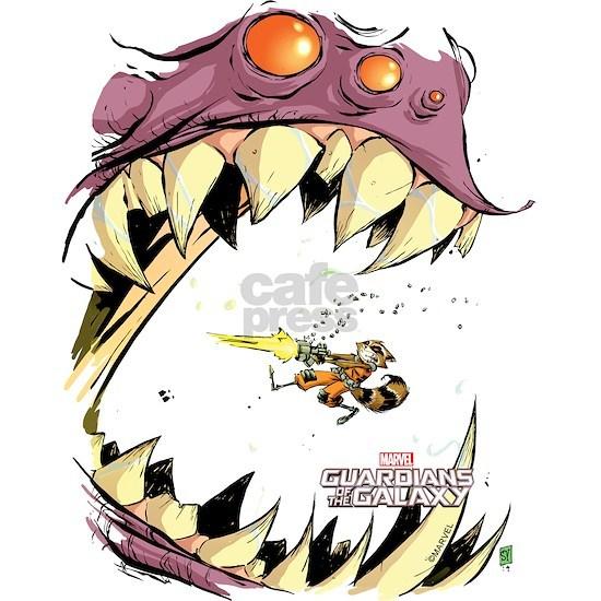 GOTG Comic Rocket Big Mouth Monster