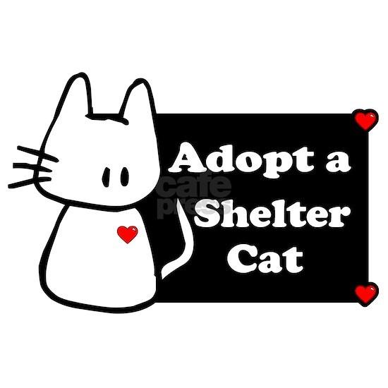 Adopt a shelter cat black white banner