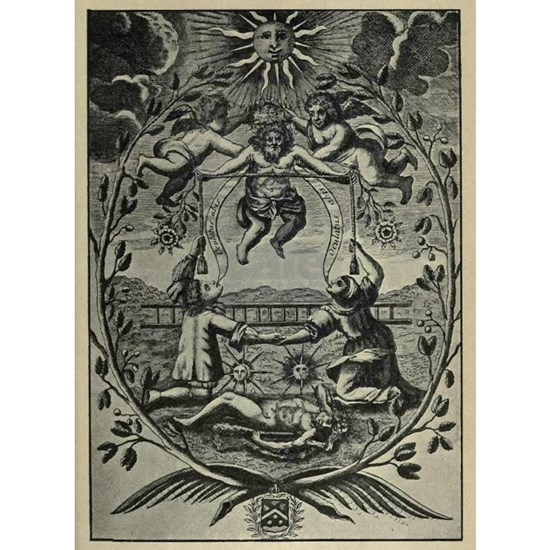 Alchemical Print from 1677
