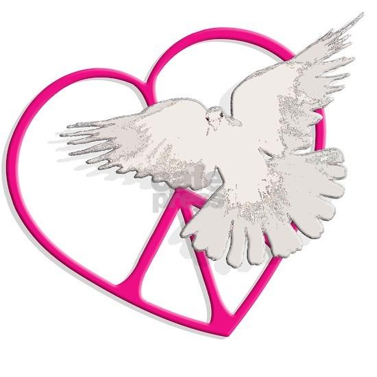 dark peace heart dove