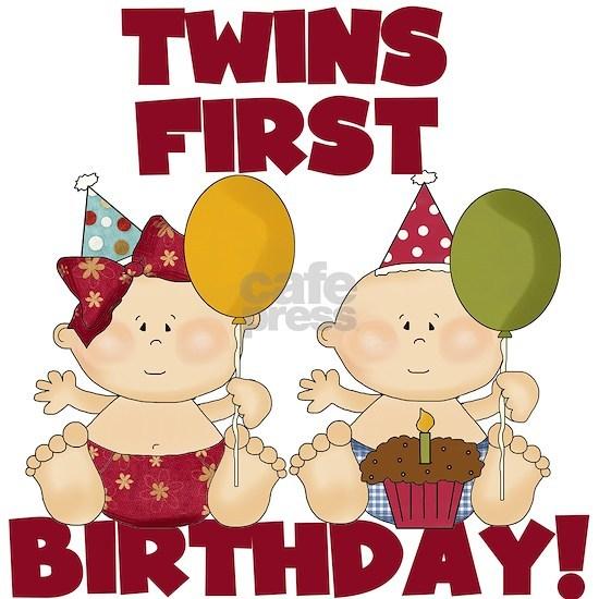 Twin Boy and Girl 1st Birthday