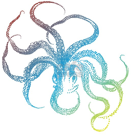 colorful octopus silhouette