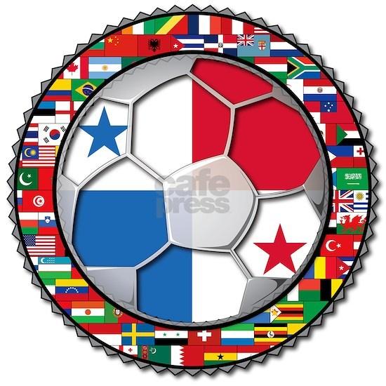 Panama Flag World Cup Football Soccer Ball - No