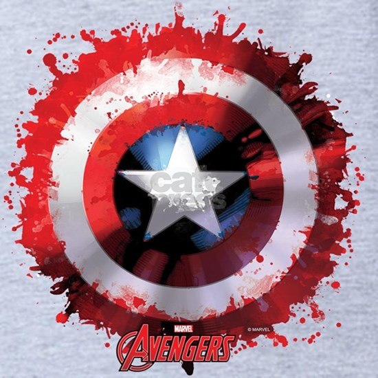 Avengers Cap Shield Spattered