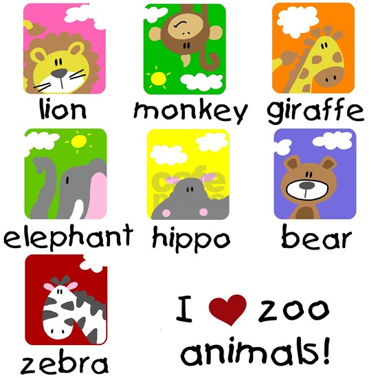I Love Zoo Animals