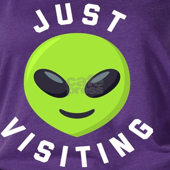 Just Visiting Alien Emoji