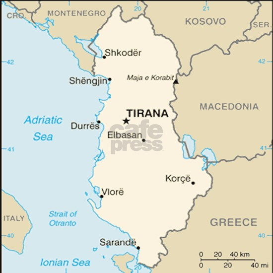Albanian Map