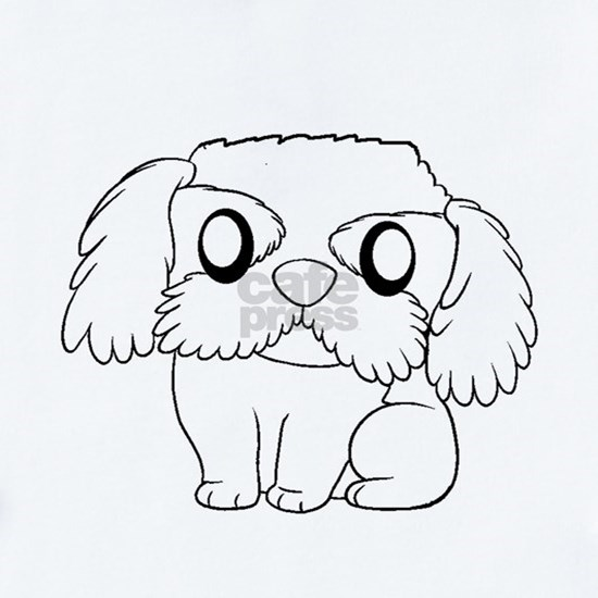 havanese cartoon white