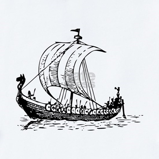 Viking Ship Black