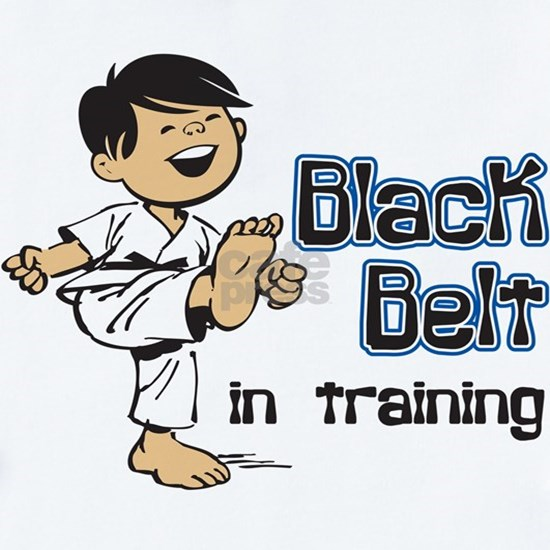 Black Belt in Training - Asian Boy