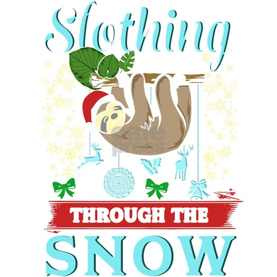 Cute Slothing Through the Snow Christmas