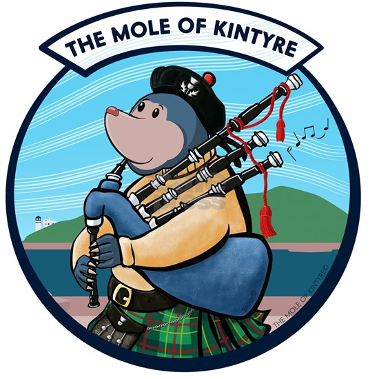 Scottish Bagpipe Playing Mole Of Kintyre