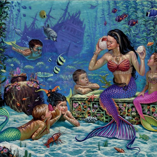 Mermaid And Her Children