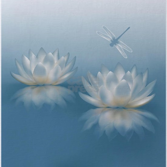 Blue Lotus and Dragonfly