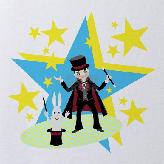 The magician boy and the rabbit