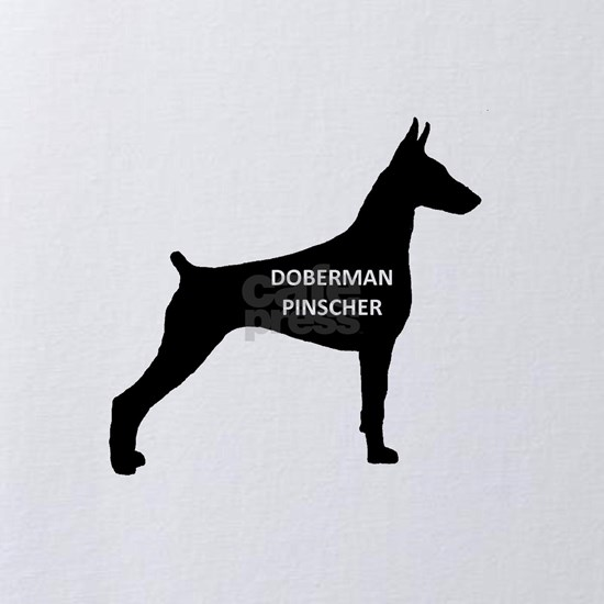 doberman pinscher name on silhouette