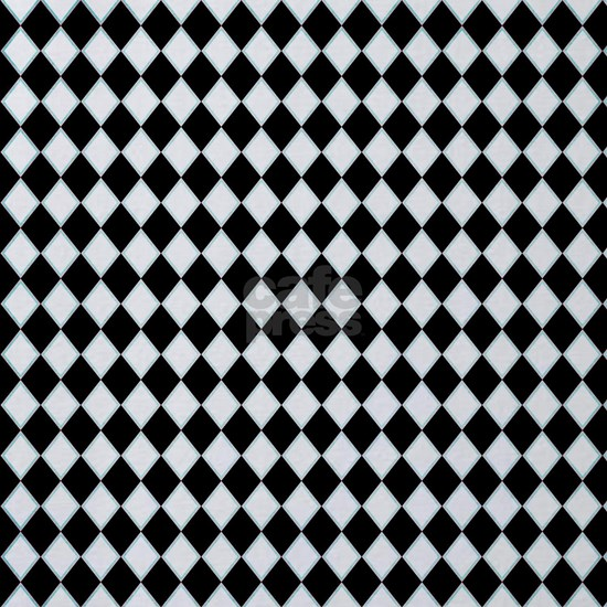 black white harlequin diamond pattern