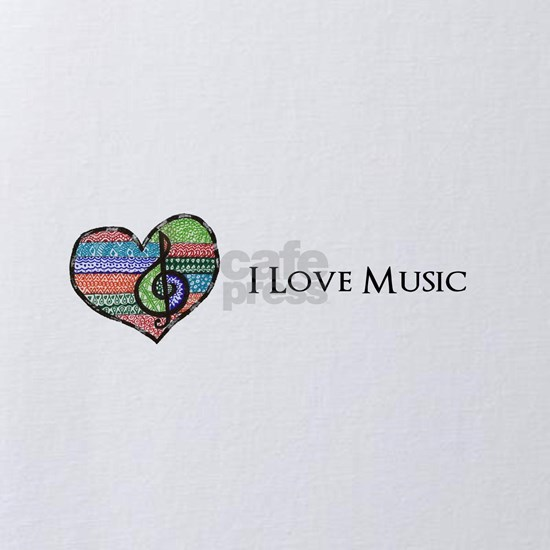 Personalize this I Love Music Design