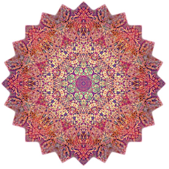 Purple Orange Yoga Mandala Shirt