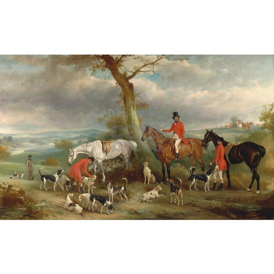 Vintage Painting of the Hunt