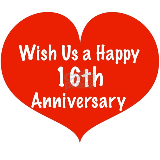 Wish Us A Happy 16th Anniversary Framed Tile By Listing Store