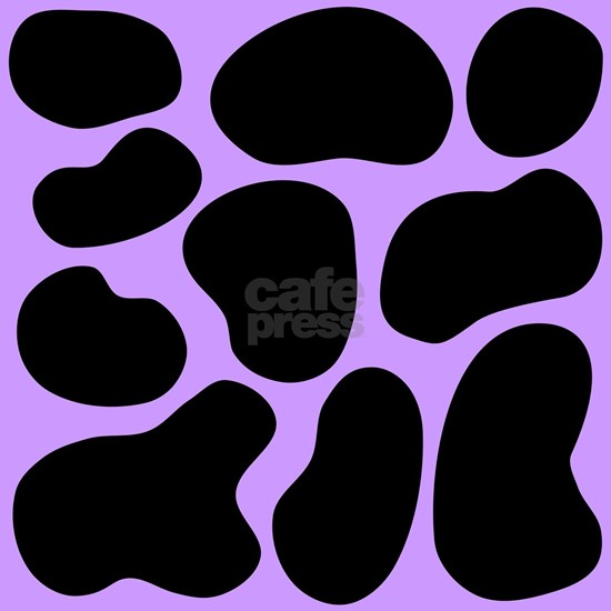 Purple and Black Cow Print.
