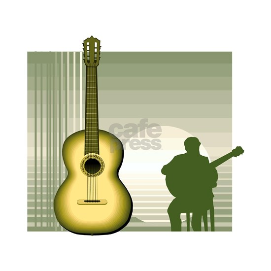 acoustic guitar player sitting yellow