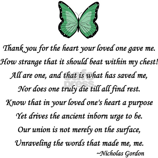 Donor Thank You Poem
