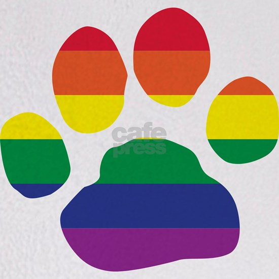 Gay Pride Rainbow Paw Print