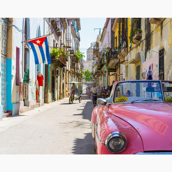 Colorful building streets in Cuba Small Puzzle by ARTPICS ...