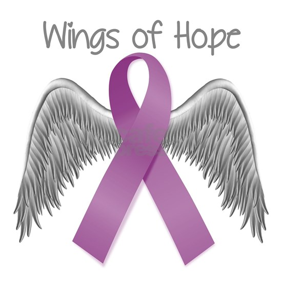 Wings of Hope in Purple
