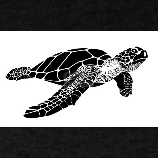 sea turtle white background t-shirtcopy