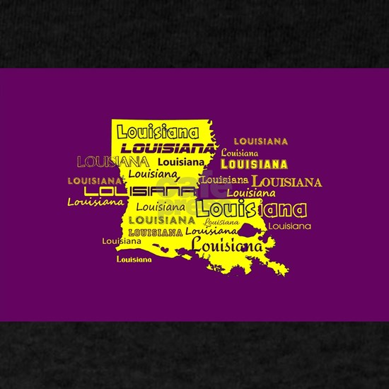 Louisiana Yellow State Purple Font and Background