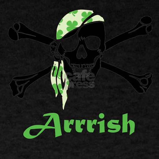 Arrish Irish Pirate Skull And Crossbones