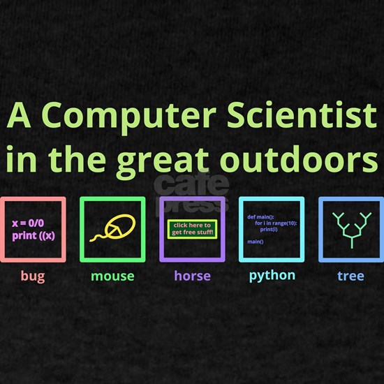 A computer scientist in the great outdoors (light)