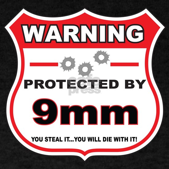 protected by 9mm shield